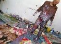 Painting Performance, performance, Art Annex studio, UNM, 2003. Photo: Chad Person