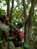 Tree Painting, performance, Art Annex grounds, UNM, 2004
